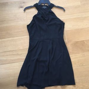 Express black dress criss cross keyhole front 8
